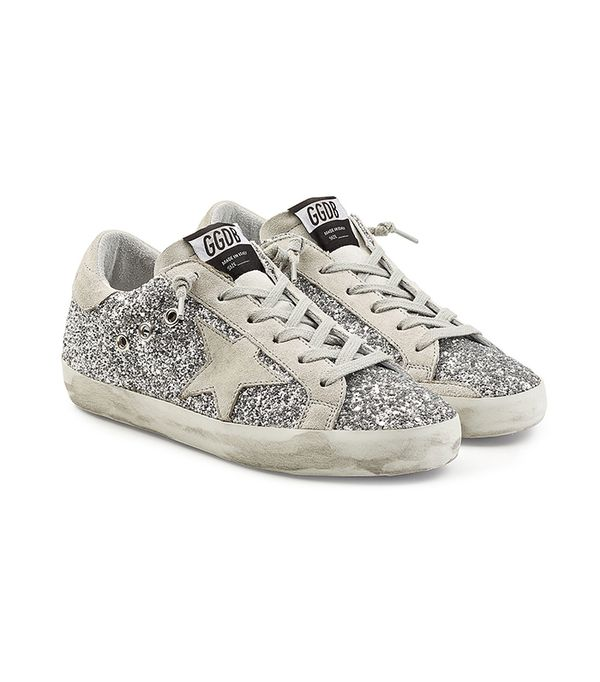 Super Star Glitter Sneakers with Suede