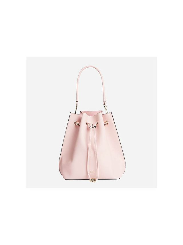 The Daily Edited Pale Pink Bucket Bag