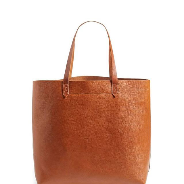 'The Transport' Leather Tote - Brown
