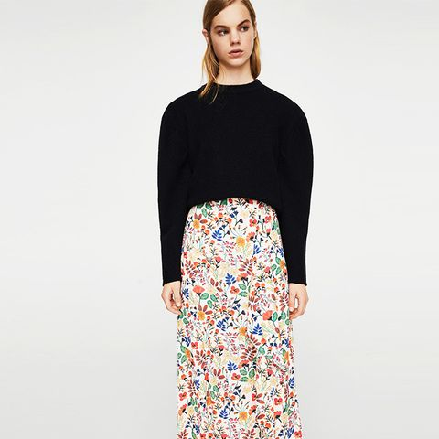 Floral Wrapped Skirt