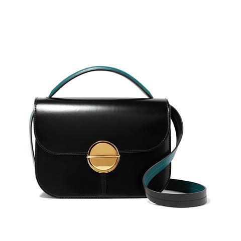 Tuk Medium Glossed-Leather Shoulder Bag