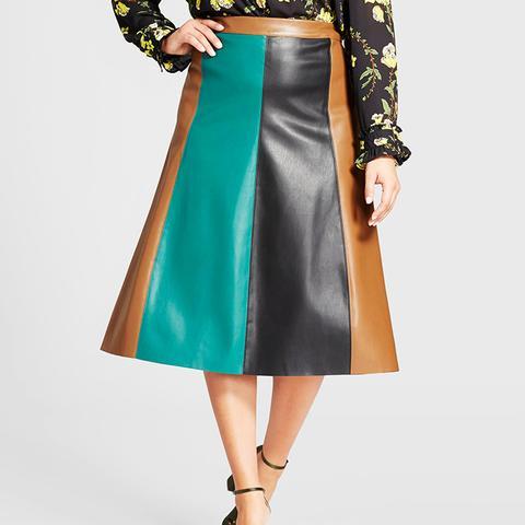 Paneled Swing Skirt