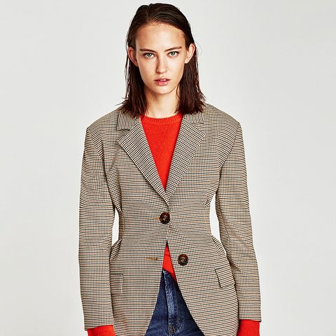 Checked Jacket With Darts