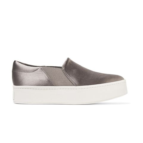 Warren Satin Slip-On Sneakers