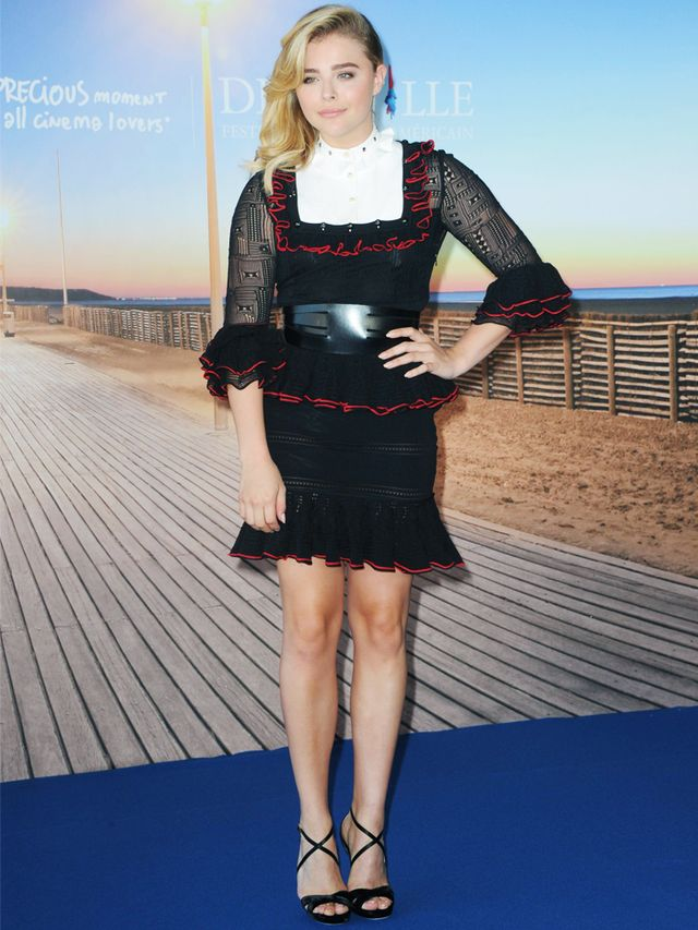 Chloe Grace Moretz Style: Alexander McQueen frill dress