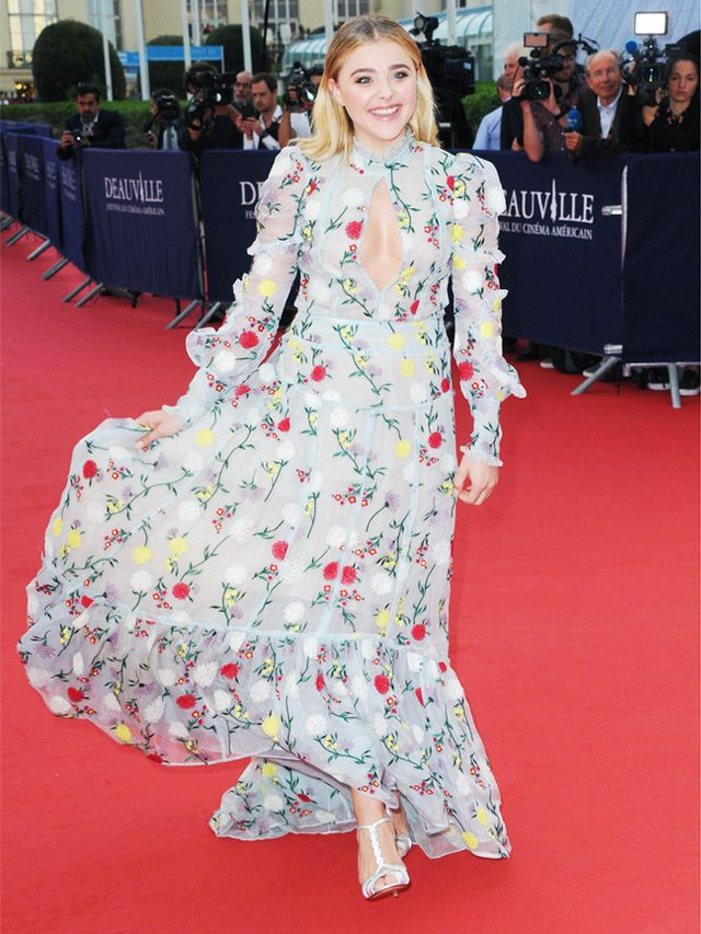 Chloe Grace Moretz Style: Erdem floral dress for red carpet