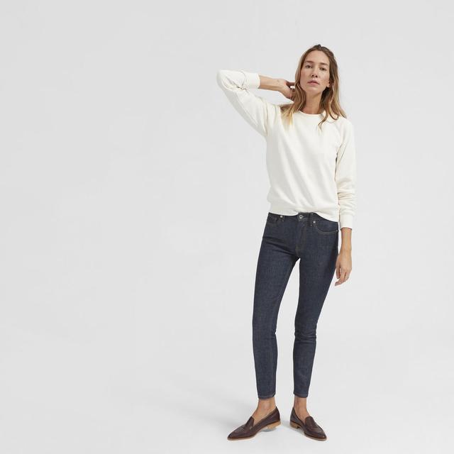 Mid-Rise Skinny Jean (Regular) by Everlane in Dark Indigo, Size 29