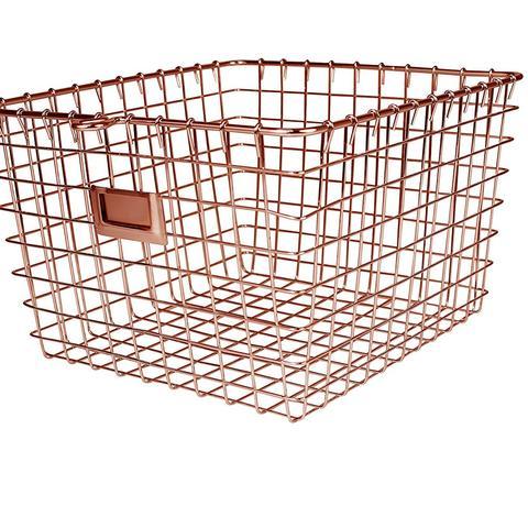 Wire Storage Basket, Medium, Copper