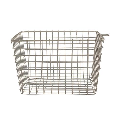 Wire Storage Basket, Medium, Satin Nickel