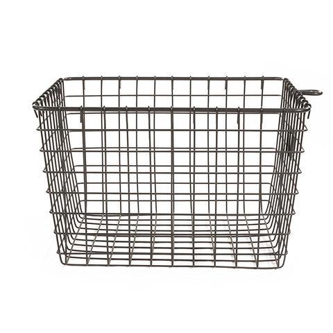 Wire Storage Basket, Medium, Industrial Grey
