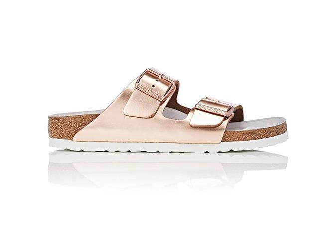 Women's Arizona Leather Double-Buckle Sandals