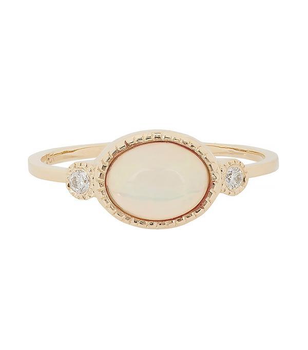 Women's Diamond, Opal & Gold Ring