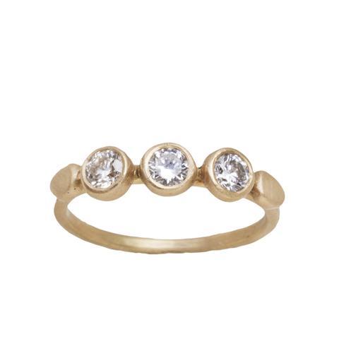 Yellow Gold Champagne Diamond Ring