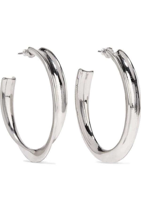 - Silver-tone Earrings - one size