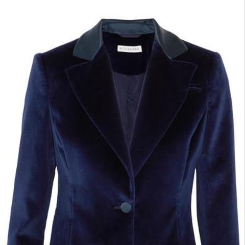 Acacia Cotton-Blend Velvet Blazer