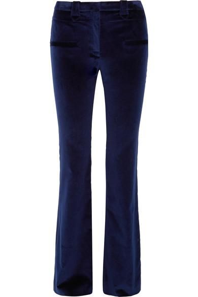 Serge Cotton-blend Velvet Flared Pants