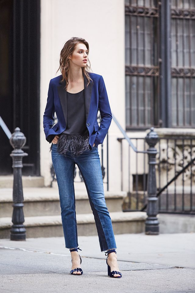 blazer with jeans outfit
