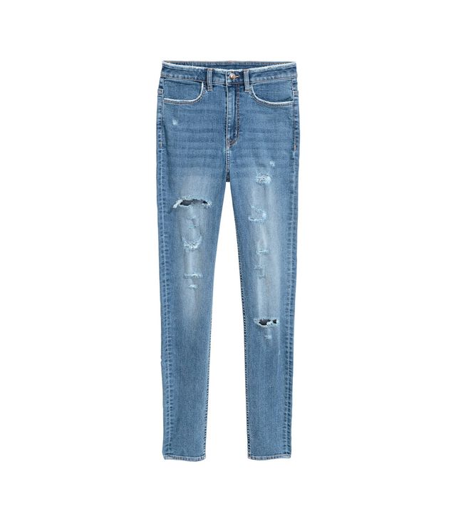 H&M Skinny Fit High Trashed Jeans