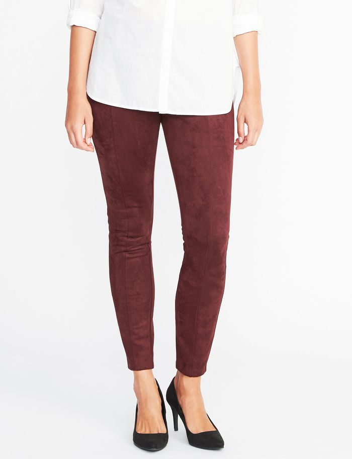 old navy suede stevie pants