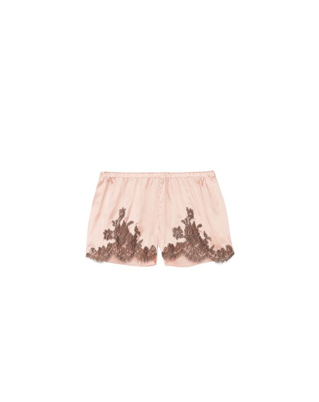 I.D Sarrieri Lace-Trimmed Silk Shorts