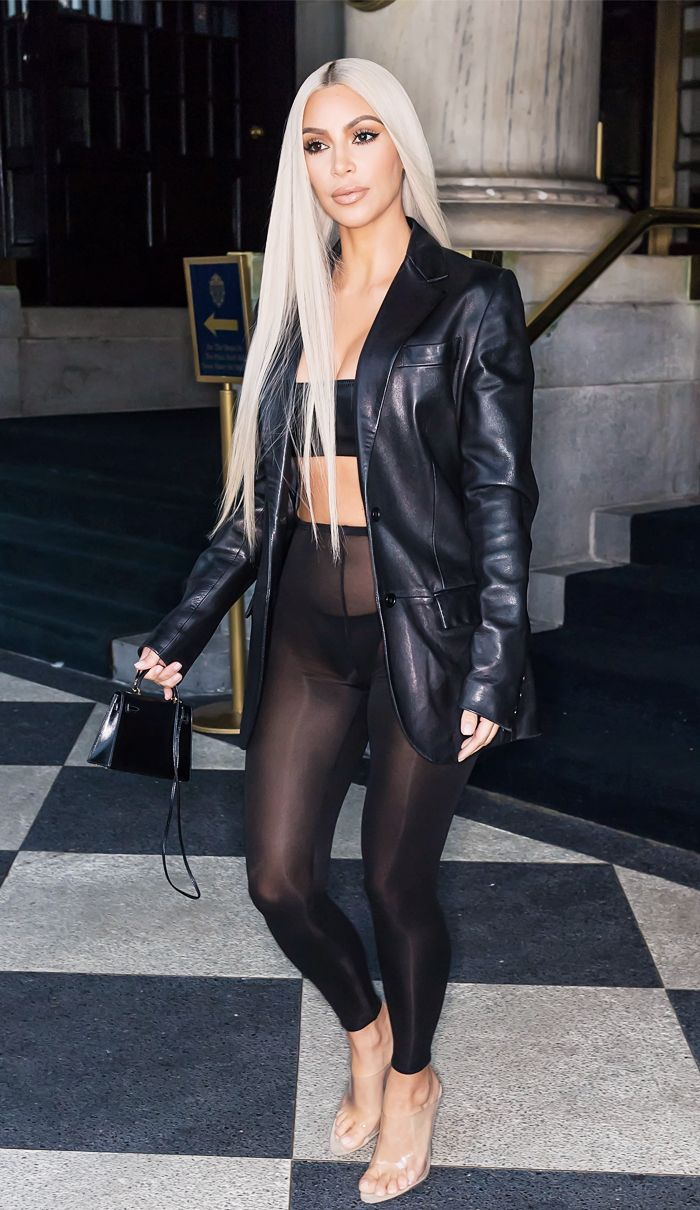 Kim Kardashian sheer leggings