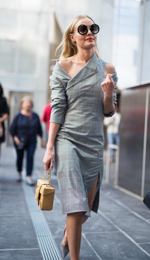 Celebrities New York Fashion Week spring 2018: Kate Bosworth in Monse dress