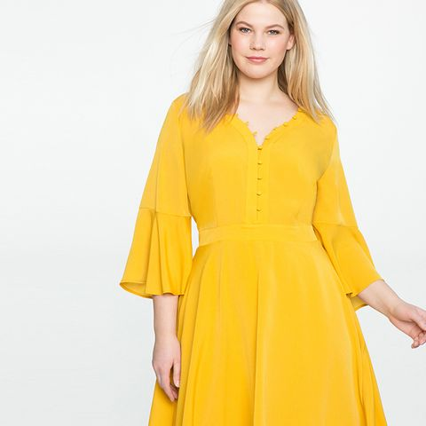 Soft Button Front Shirt Dress