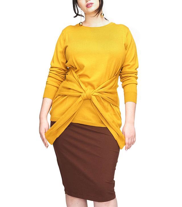 Women's Universal Standard Mae Tie Front Sweater