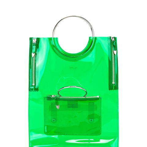Ring Handle Vinyl Tote Bag