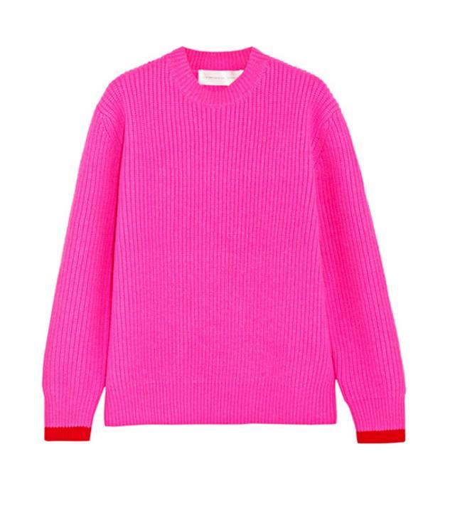 Victoria Victoria Beckham pink wool sweater