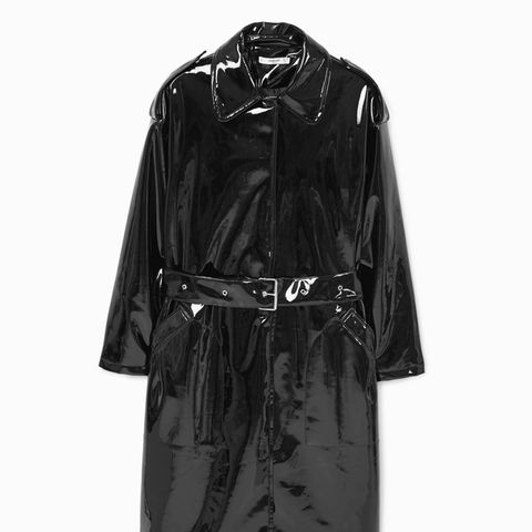Belt Vinyl Trench Coat