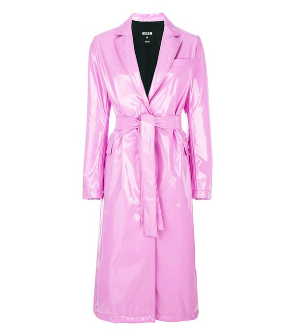 MSGM Pink Belted Trench Coat