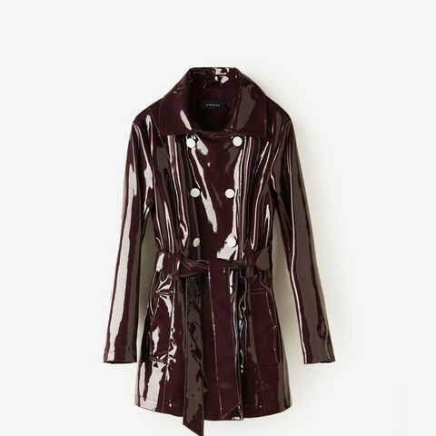Patent Finish Trench Coat