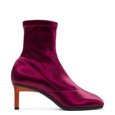 Purple Satin Blade Boots