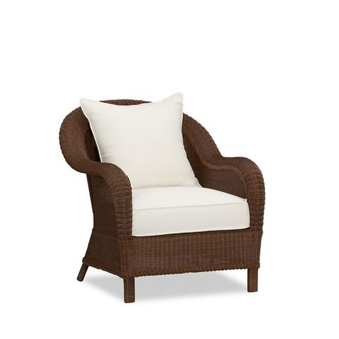 Palmetto All-Weather Wicker Armchair in Honey