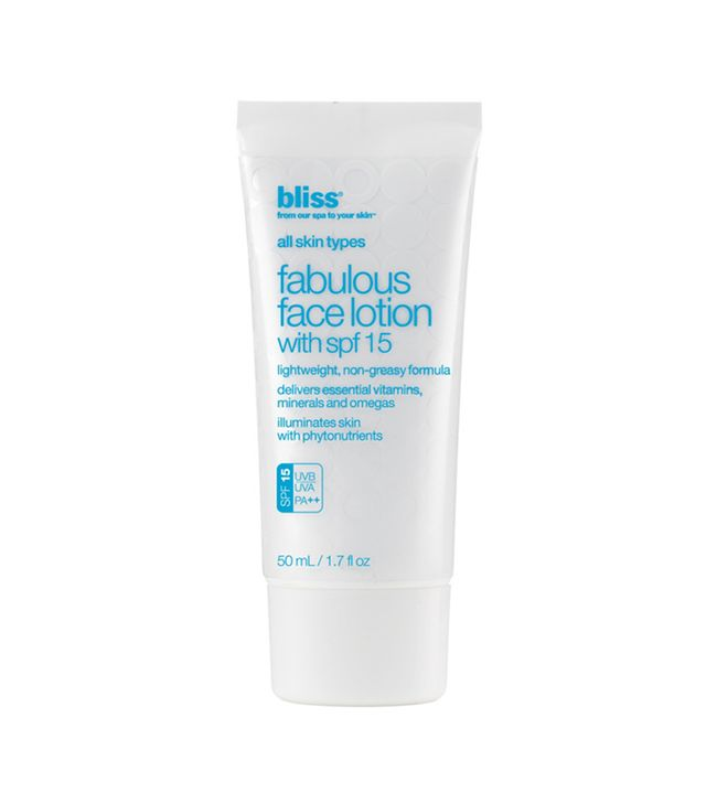 bliss fabulous face lotion - beauty tips