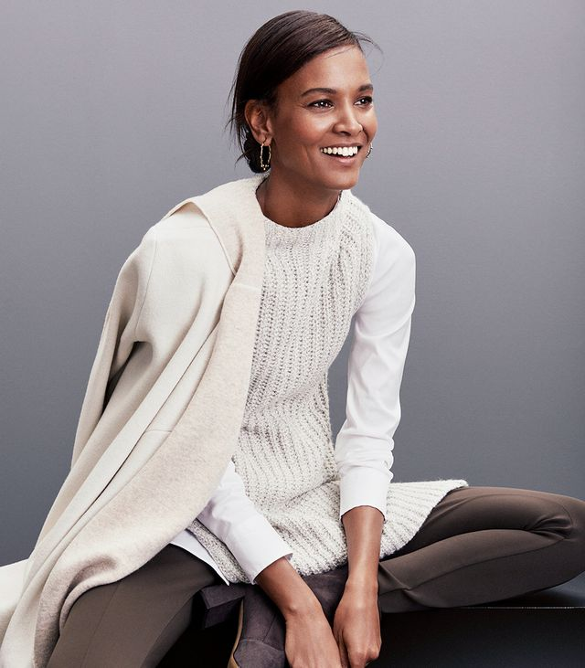 Next up is a multilayered look for those extra-chilly days. Piling on extra pieces doesn't have to be complicated, though. It's all about playing with the length and fabrication of versatile...