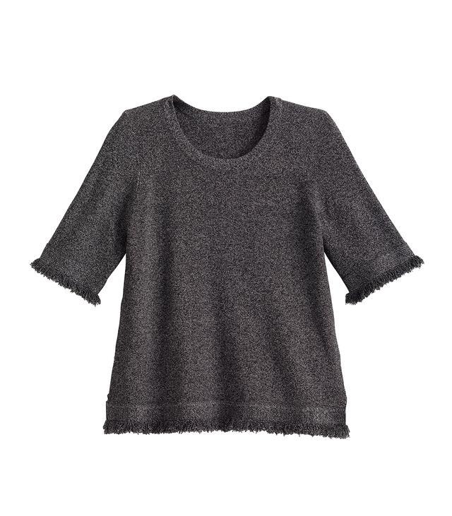 Ann Taylor Fringe Trim Sweater