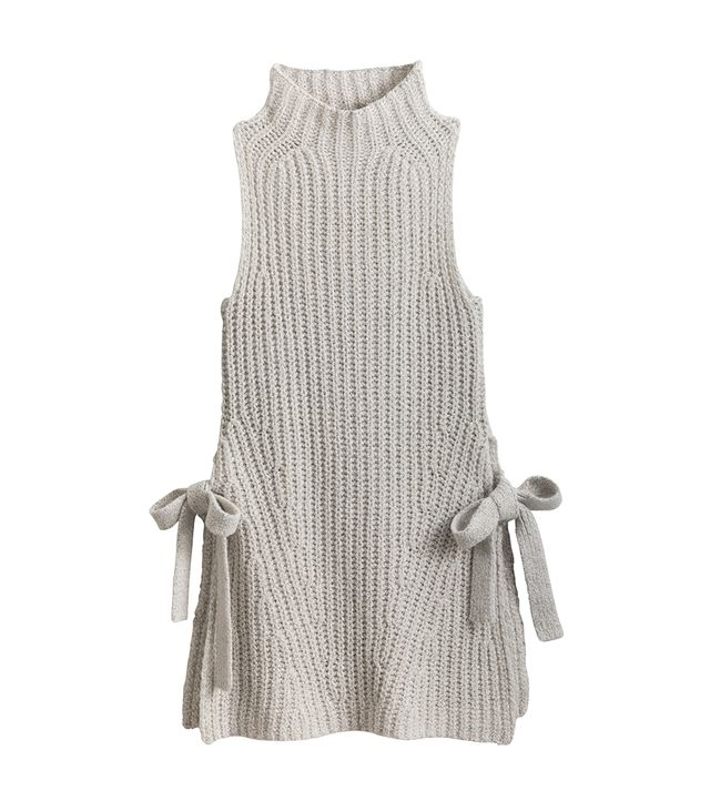 Ann Taylor Sleeveless Side Tie Tunic Sweater