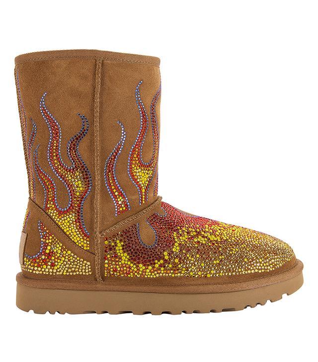 Jeremy Scott x Ugg Swarovski Crystal Flame Classic Short Boots