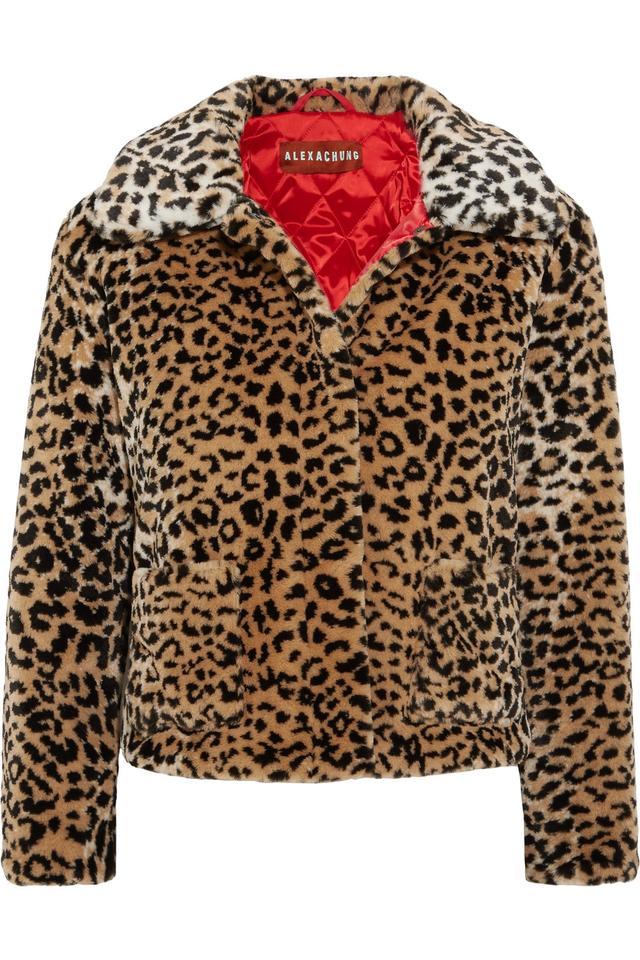Leopard-print Faux Fur Jacket