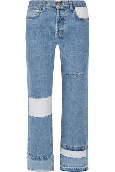 The Diy Patchwork High-rise Straight-leg Jeans