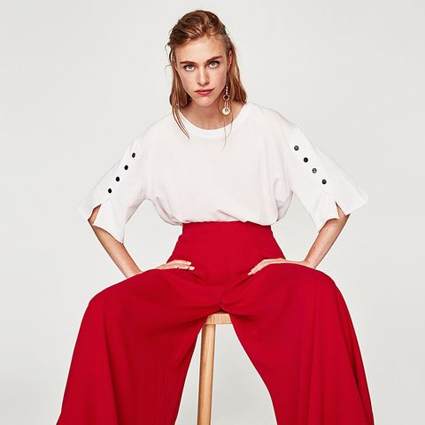 Flowing Palazzo Trousers