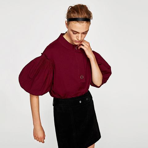 Balloon Sleeve T-Shirt