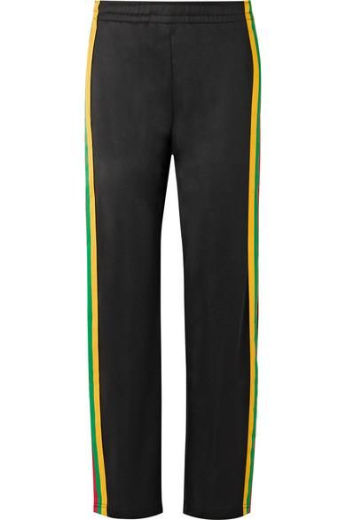 Norwich Face Striped Satin-jersey Track Pants