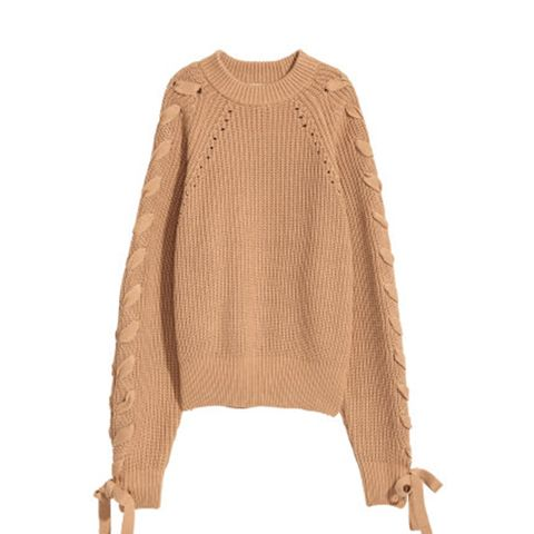 Knit Sweater With Lacing