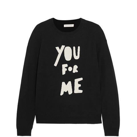 You for Me Printed Merino Wool Sweater