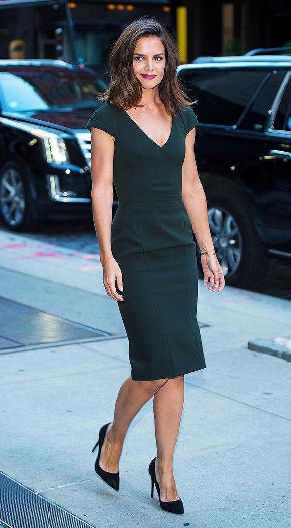 Katie Holmes Style: A little black dress