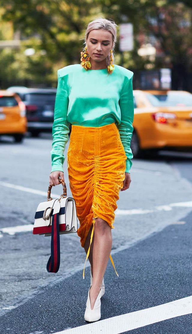 Colour trends autumn winter: Orange and green