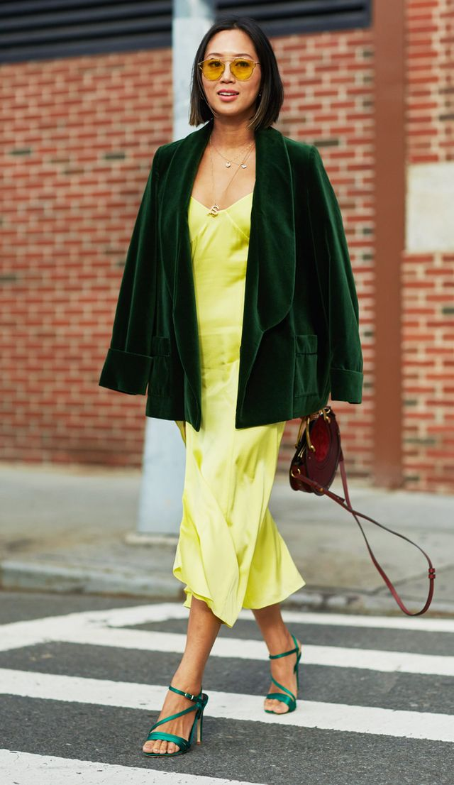 Colour trends autumn winter: yellow and green